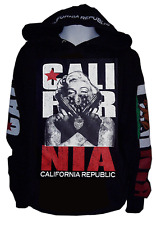 Men Masked Marilyn Monroe Gangster Pullover Sweater Hoodie,California Republic L