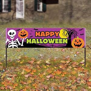 5ft Happy Halloween Haunted Garden Lawn Party Banner Sign