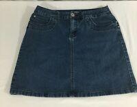 Women's Christopher & banks denim skort size 10 blue, with pockets