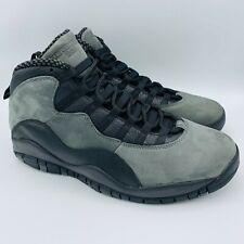 2018 Nike Air Jordan Retro 10 Dark Shadow Black Gray 310805-002 Men's Size 11