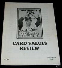 CARD VALUES REVIEW 1982 JULY - AUGUST BASEBALL STEVE CARLTON 1967 TOPPS COVER
