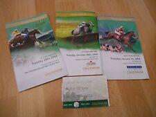 CHELTENHAM FESTIVAL RACECARDS 2003 & 2004 X3 - 3 different days & used ticket