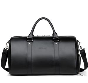 Large Mens Soft Leather Duffel Shoulder Bag Travel Overnight Luggage Handbag