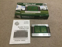 Golf Electronic Game Double Screen Talking Excalibur Handheld Portable Vintage