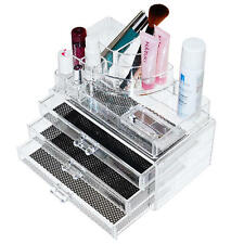 Makeup Holder Jewelry Organizer Acrylic Insert Drawer Cosmetic Case Storage Box