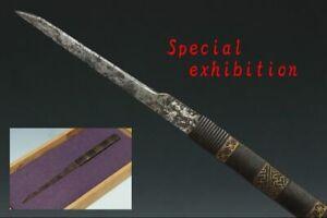 Japan Antique gold iron kozuka set katana koshirae samurai yoroi tsuba Edo Busho