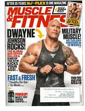 MUSCLE & FITNESS bodybuilding magazine/WWE THE ROCK DWAYNE JOHNSON 8-18
