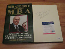 RED AUERBACH signed MBA MANAGEMENT 1st Edition 1991 Book To David BOSTON CELTICS