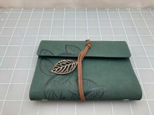 Judd's Beautiful Handmade Green Leather Journal - 3x5