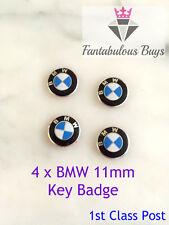4 x BMW Remote Key Fob 11mm Badge Emblem Sticker Logo Replacement 1 3 5 6 7 X5