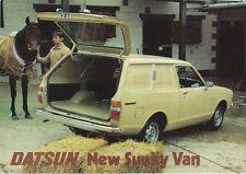 Datsun Nissan Sunny Van 1980-82 Original Sales Brochure