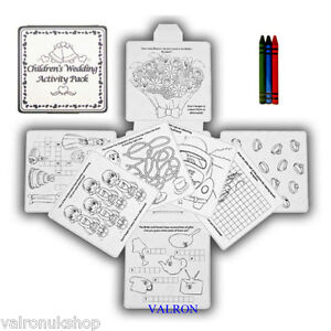 CHILDRENS WEDDING ACTIVITY PACKS COLOURING WORD GAMES PUZZLES IDEAL ANY PARTY