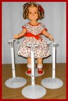 """3 KAISER Doll Stands for 15"""" - 16"""" 17"""" Shirley Temple"""