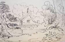 COTTAGE NEAR COLCHESTER  INK HENRY  LEWIS C1830