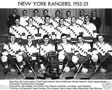 1952-1953 NEW YORK RANGERS 8X10 TEAM PHOTO