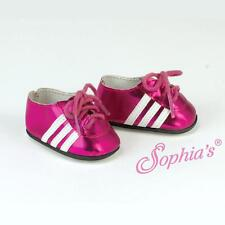 Fuchsia Metallic Soccer Cleats Athletic Shoes fits American Girl Doll sneakers