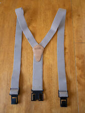 "DICKIES 2"" Perry Suspenders Tan Adjustable Plastic Belt Hooks EUC Work Outdoor"