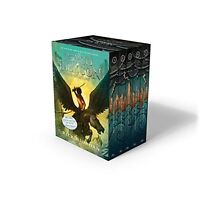 Percy Jackson and the Olympians 5 Book Paperback Boxed Set (new covers w/post...