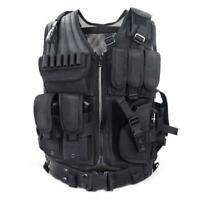 Adjustable Tactical Military Airsoft Molle Combat Army Plate Carrier Vest Super