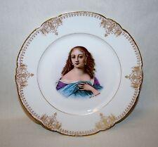 """1844 FRENCH SEVRES PORCELAIN PORTRAIT CABINET PLATE """"MADAME DE LA VALLIERE"""""""