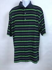 Footjoy Mens Blue Green Striped Short Sleeve Golf Polo Shirt Xl extra large