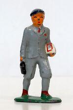 Vintage BARCLAY Lead #616 WALKING SCHOOL BOY Toy Soldier METAL FIGURE / Manoil