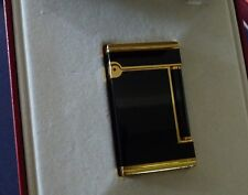 ST. Dupont Line 2 'Normandy' Lighter Black Laque de Chine/Gold Trim -Fully Boxed