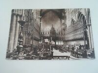 CHESTER CATHEDRAL - CHOIR WEST - Vintage Postcard Franked+Stamped 1918 §E2477