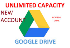 Unlimited GOOGLE DRIVE Storage (EDU EMAIL) -NOT SHARED DRIVE - BEST PRICE