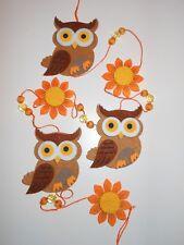 Woodland Autumn Owl Sunflower Felt Garland Banner Bunting Decoration