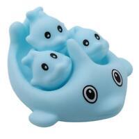 Dolphin Bath Play Set 4 Piece Fun Water Bathtub Toys for Kids LE