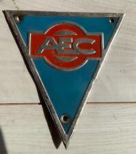 More details for vintage aec metal radiator badge bus truck lorry original retro sign plate old
