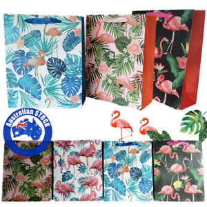Paper Gift Bag 12X Flamingo Eco Pouch Candy Cookies Wedding Party Wrapping Bags