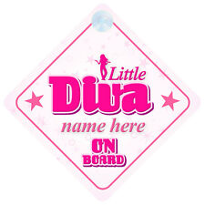 Little Diva On Board Personalised Baby Girl Car Sign