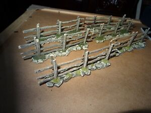 JG MINIATURES - King & Country - 6 x Scenic Country Fence  Sections