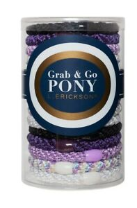 BRAND NEW L. Erickson Grab and Go Pony Tube Hair Ties in ULTRA VIOLET