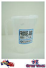 1pc Fridge Jug With Lid 1.5l Plastic Clear Transparent Cup Jug Quadrant Q113838