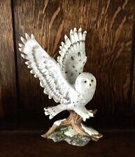 "1991 Homco Porcelain ""Arctic Flight� Owl"