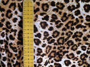 cotton jersey lycra , leopard print