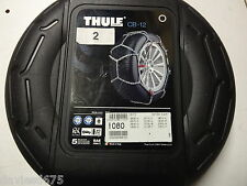 THULE KONIG SNOW CHAINS CB-12 - Size 080 NEW