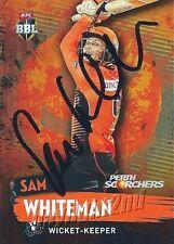 ✺Signed✺ 2015 2016 PERTH SCORCHERS Cricket Card SAM WHITEMAN Big Bash League