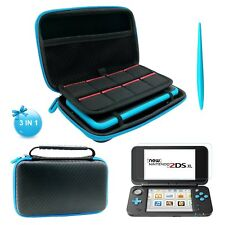 New Nintendo 2DS XL/LL Case Hard EVA Protective Travel Cover Bag (Black)