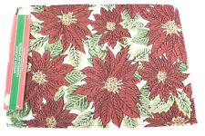 CHRISTMAS TAPESTRY HOLIDAY DECOR PLACEMATS POINSETTIAS SET OF 4 NWT