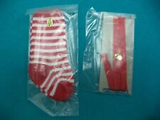 American Girl - Kirsten -  St. Lucia Red Ribbons & Striped Socks - Excellent