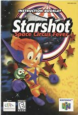 Nintendo 64 Starshot Space Circus Fever Instruction Booklet Manual