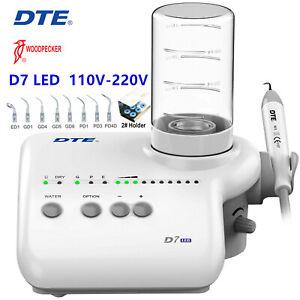 Woodpecker DTE D7 LED Dental Ultrasonic Scaler Handpiece 110-220V
