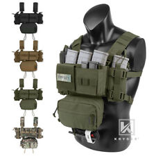 KRYDEX MK3 MK4 Micro Fight Chest Rig Chassis Tactical Carrier w/ SACK Dump Pouch