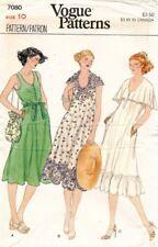 1970's VTG VOGUE Misses' Dress Pattern 7080 Size 10 UNCUT