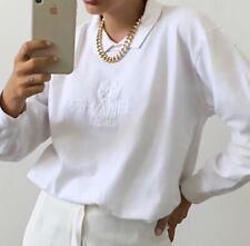 WHITE CHANEL vintage spellout Maglione Top