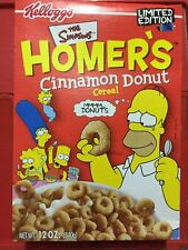 The Simpsons - Homer's Cinnamon Donut Breakfast Cereal Unopened - by Kellogg's